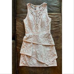 BCBGMaxazria Hanah Lavender Lace Cocktail Dress